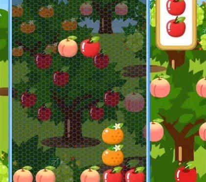 ミニゲーム「落ち物パズル・・・きっちり果樹園」